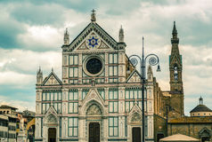 The Basilica of Santa Croce in Florence Royalty Free Stock Images