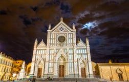 Basilica of Santa Croce in Florence Stock Image