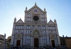 Basilica of Santa Croce, Florence stock photo
