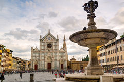 The Basilica of Santa Croce in Florence, Italy Stock Photos
