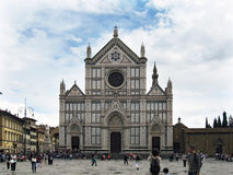 Basilica Santa Croce in Florence, Italy. FLORENCE, ITALY: JULY 15: Board of directors of Opera di Santa Croce announces new three year plan for the site of the Royalty Free Stock Photos