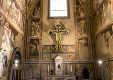 Basilica of Santa Croce, Florence, Italy Stock Images