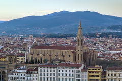 Basilica of Santa Croce, Florence, Italy Royalty Free Stock Photos