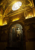 Basilica Santa Croce in Gerusalemme, Rome,. ROME, ITALY - APRIL 19: Statue of St. Helen and the True Cross in Chapel of St. Helen, interior of Basilica Santa Stock Photography