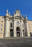 Basilica Santa Croce in Gerusalemme, Rome, Italy. Basilica of the Holy Cross in Jerusalem (Santa Croce in Gerusalemme), Roman Catholic parish. It is one of the Stock Image
