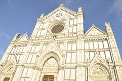 Basilica of the Santa Croce located in Florence, Italy Stock Photography