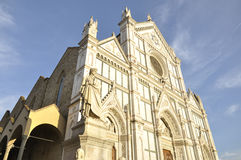 Basilica of the Santa Croce located in Florence, Italy Royalty Free Stock Photos