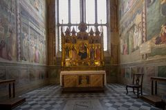 One of the Altars in Basilica of Santa Croce, Florence Stock Images
