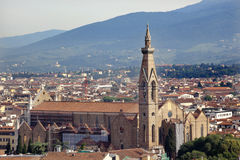 Basilica Santa Croce Rooftops Florence Italy Royalty Free Stock Photo