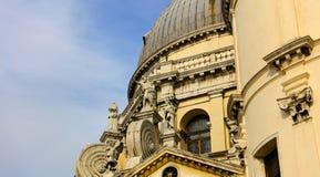 Basilica santa della salute de Venice. Blue sky stock photos