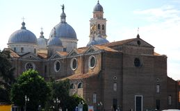 Basilica of Santa Giustina close to Prato della Valle in Padua in the Veneto (Italy) Royalty Free Stock Photo