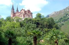 Basilica of Santa Maria la Real of Covadonga Royalty Free Stock Images