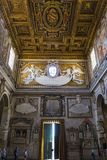 The Basilica of Santa Maria in Aracoeli, Rome, Italy. ROME, ITALY - AUGUST 31, 2017: The Basilica of Santa Maria in Aracoeli at Rome, Italy Stock Images