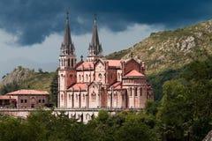 Basilica of Santa Maria, Covadonga, Asturias, Spain Royalty Free Stock Photos