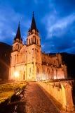Basilica of Santa Maria, Covadonga, Asturias, Spain Royalty Free Stock Images
