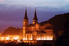 Basilica of Santa Maria, Covadonga, Asturias, Spain Royalty Free Stock Image