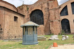 Basilica Santa Maria degli Angeli e dei Martiri in Rome. Rome, Italy - August 17, 2015: Basilica Santa Maria degli Angeli e dei Martiri in Piazza della Stock Image