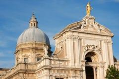 Basilica of Santa Maria degli Angeli near Assisi Stock Photography