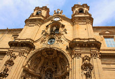Basilica of Santa Maria del Coro on blue sky background. Royalty Free Stock Image