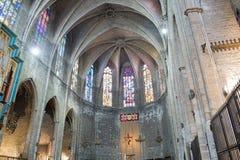Basilica of Santa Maria del Pi. Barcelona, Spain. Stock Photos