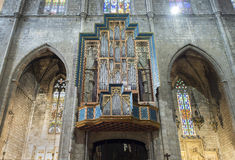 Basilica of Santa Maria del Pi. Barcelona, Spain. Royalty Free Stock Photo