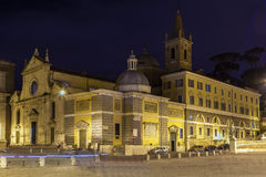 Basilica of Santa Maria del Popolo, Rome Royalty Free Stock Images