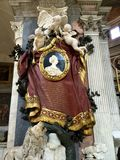Basilica of Santa Maria del Popolo, Rome, Italy. Monument of Maria Flaminia Odescalchi Chigi Royalty Free Stock Photos
