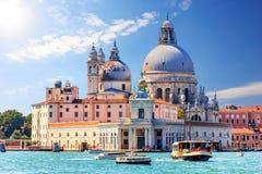 Basilica Santa Maria Della Salute in Venice, beautiful summer vi. Ew from the Grand Canal stock photos