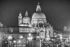 Basilica Santa Maria della Salute, Venice, Italy on a beautiful Royalty Free Stock Photos