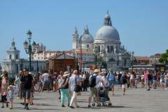 Basilica Santa Maria della Salute in Venice - Italy. Stock Photo
