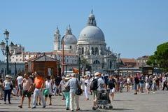 Basilica Santa Maria della Salute in Venice - Italy. Stock Image