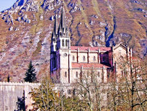 Basilica of Santa Maria la Real de Covadonga Royalty Free Stock Photos