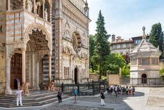 Basilica of Santa Maria Maggiore in Bergamo, Italy Royalty Free Stock Photos