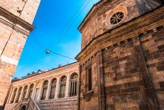 Basilica Santa Maria Maggiore in Bergamo Citta Alta Italy. Historical architecture of Old town or Upper City in Bergamo. royalty free stock photos