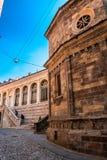 Basilica Santa Maria Maggiore in Citta Alta, Bergamo, Italy. Historical architecture of Old town or Upper City in Bergamo. stock images