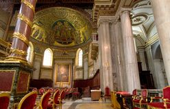 Basilica Santa Maria maggiore - Rome Royalty Free Stock Photography