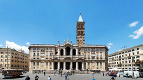 Basilica Santa Maria maggiore - Rome - outside Stock Photo