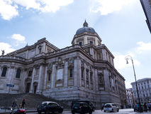 The Basilica of Santa Maria Maggiori on the Esquiline Hill in Rome Italy. The Basilica is sometimes referred to as Our Lady of the Snows, a name given to it in Royalty Free Stock Images