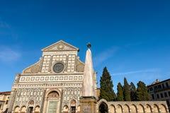 Basilica of Santa Maria Novella - Firenze Italy. Florence, facade of the famous Basilica of Santa Maria Novella, UNESCO world heritage site, Tuscany, Italy stock photography