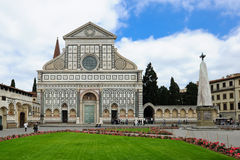 Basilica of Santa Maria Novella in Florence. Closeup of the Basilica of Santa Maria Novella in Florence during the day Stock Photo