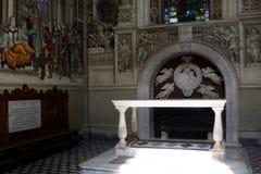 Basilica of Santa Maria Novella, Florence. Interior of Santa Maria Novella, church in Florence, Italy royalty free stock photos
