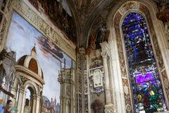 Basilica of Santa Maria Novella, Florence. Interior of Santa Maria Novella, church in Florence, Italy stock photography