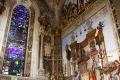 Basilica of Santa Maria Novella, Florence. Interior of Santa Maria Novella, church in Florence, Italy Stock Image