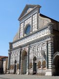 Basilica of Santa Maria Novella, Florence, Italy. Dominican Church, Basilica of Santa Maria Novella, Piazza del Unita Italiana, Florence, Italy stock image