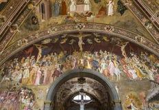 Basilica of Santa Maria Novella, Florence, Italy. FLORENCE, ITALY, OCTOBER 26, 2015 : interiors and architectural details of Santa Maria Novella basilica stock images