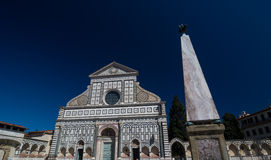 Basilica of Santa Maria Novella and monument, Florence, Italy. Monument with turtles and Basilica of Santa Maria Novella, Florence, Italy. It is the first great royalty free stock images