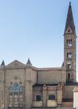 Basilica of Santa Maria Novella. View from railway station. Royalty Free Stock Images