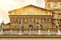 The Basilica of Santa Maria in Trastevere in Rome Royalty Free Stock Photography