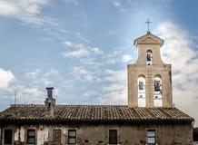 Basilica of Santi Cosma e Damiano in the Roman Forum. Royalty Free Stock Photos
