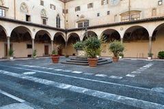 Basilica of Santissima Annunziata in Florence Stock Photos
